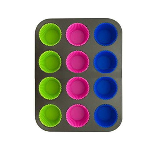 Sage Select Non-Stick Metal Pan and 12 Removable Silicone Cups (Metal Muffin Tin)
