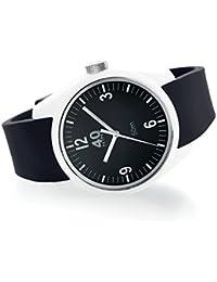 Men's 'BASIC' Quartz Plastic and Silicone Casual Watch, Color:Black (Model: 40N2.1M)