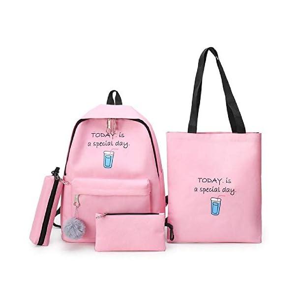 Zaino 4 set Zainodonna Borse a tracolla in tela Stampa Borsa da scuola per ragazzaZaino per studenti per bambini 1 spesavip