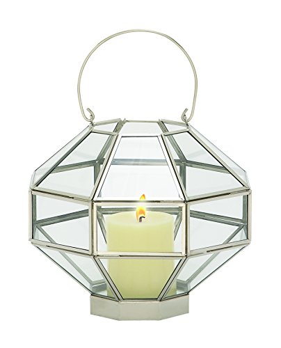 Deco 79 37157 Metal & Glass MIR Lantern by Deco 79