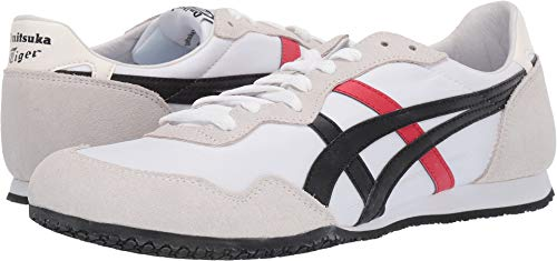 Onitsuka Tiger by Asics Unisex Serrano¿ White/Black 3 8.5 Women / 7 Men M US ()
