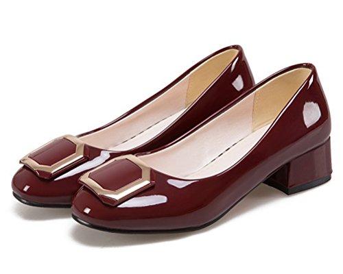 HiTime Compensées 36 Sandales Femme Bordeaux 5 Rouge rS1x5rOqw8