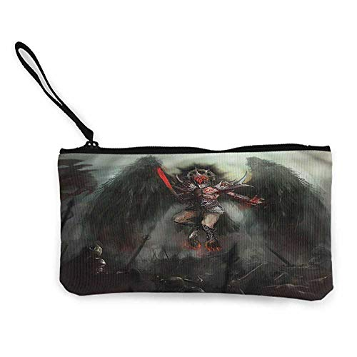 Small Purse Wallets Fantasy World,Fallen Angel of Death,Cosmetic