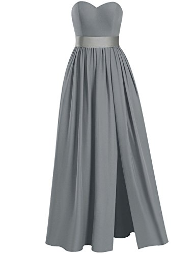 Plus Long Side Bridesmaid Evening Chiffon Dresses Mint Dress Sweetheart Prom Gowns Size Split FgqfF