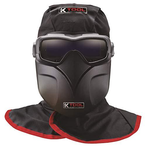 K Tool International - Auto Darkening Welding Goggles Kit, Bump Cap, Fire Retardant Hood, KTI70046