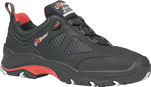 Chaussures de sécurité en ISO 20345S3SRC Torpedo Taille 44EN CUIR NOIR/ROUGE