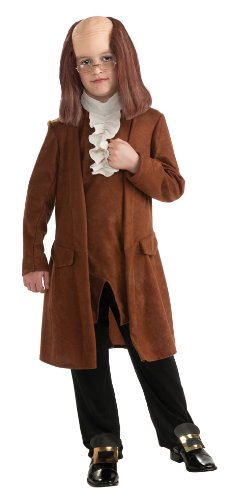 Rubie's Deluxe Benjamin Franklin Costume - Medium (8-10) - Benjamin Franklin Halloween Costume