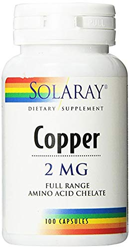 Solaray Copper Capsules 2mg, 100 Count (3 Pack)