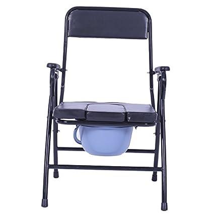 Bath chair Silla Plegable para Ancianos Inodoro para ...