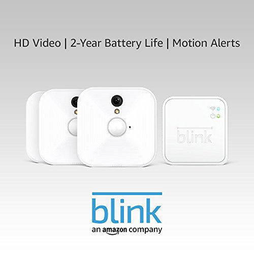 Blink Indoor Home Security Camera System (1st Gen) | with Motion Detection, HD Video, 2-year Battery Life and Cloud…