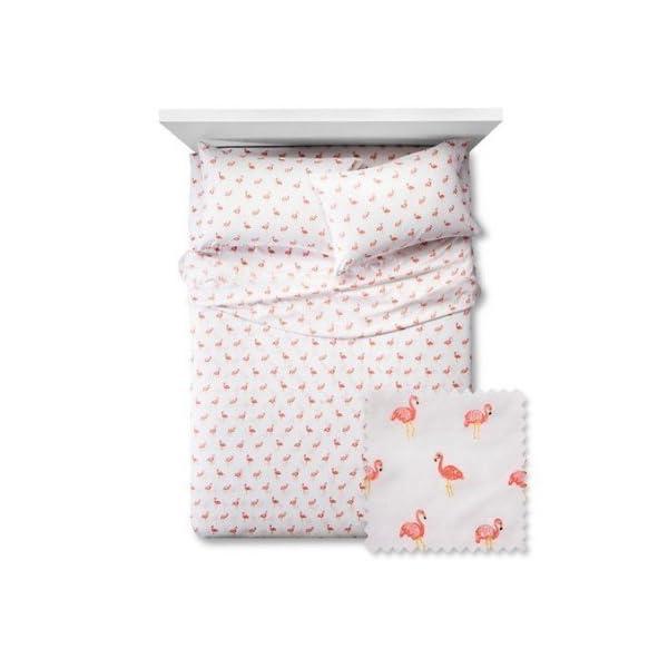 Pillowfort-Flamingos-Sheet-Set-Twin