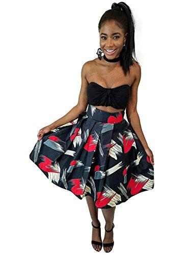 Lara African print midi skirt  (Tutus At Party City)
