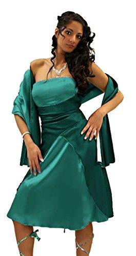 Diseño satén cóctel vestido incluye (1030L) Jade