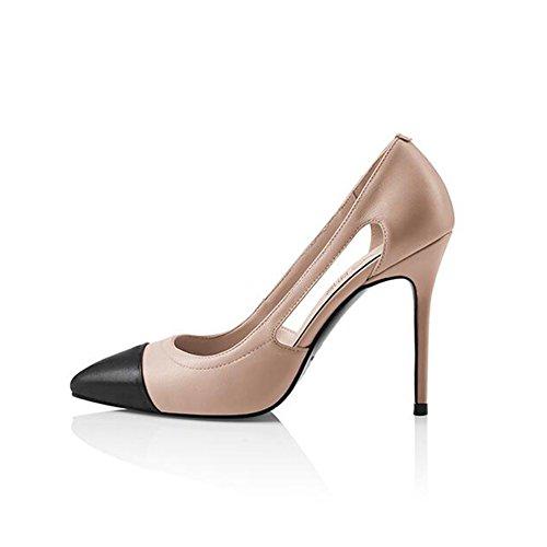 Cuir Taille 2 En 2 Air Femme Cjc uk4 À Side Talons Eu36 Hauts couleur Chaussures 840vF6W6