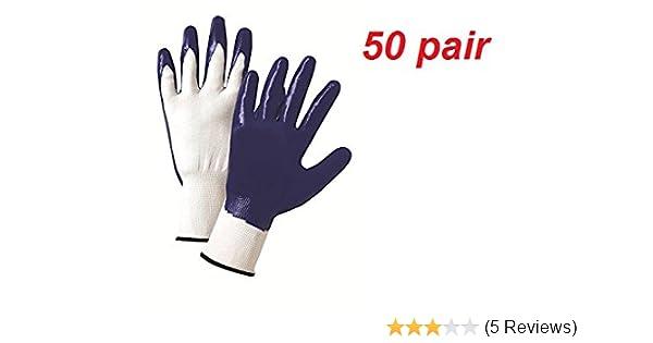 Multipurpose Gloves Large Unisex Washable Polyester Nitrile-Coated 10-Pack