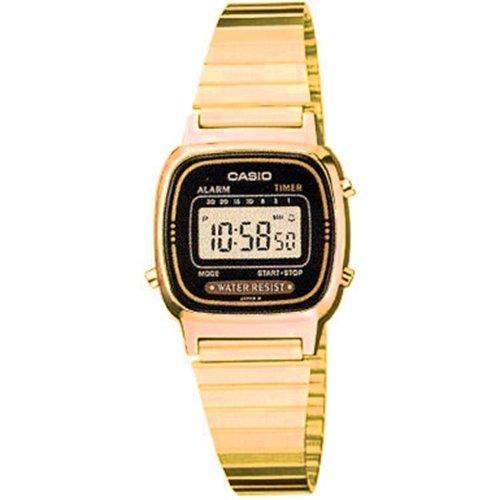 Casio LA-670WG-1 - Reloj digital de cuarzo para mujer con correa de metal, color dorado: CASIO: Amazon.es: Relojes