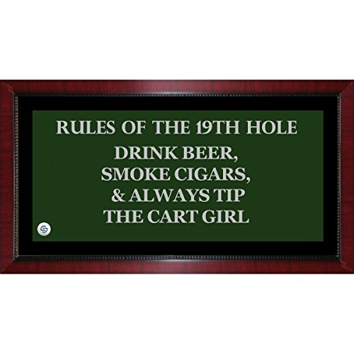 Rules of the 19th Hole Framed 9.5x19 (19th Hole Sign)