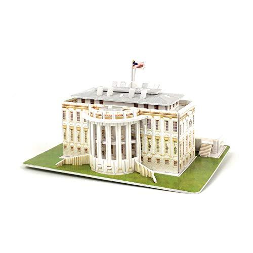 [해외]TriPro 3D Jigsaw Puzzle Worlds Greatest Architecture DIY Model Set (The White House USA) / TriPro 3D Jigsaw Puzzle Worlds Greatest Architecture DIY Model Set (The White House USA)