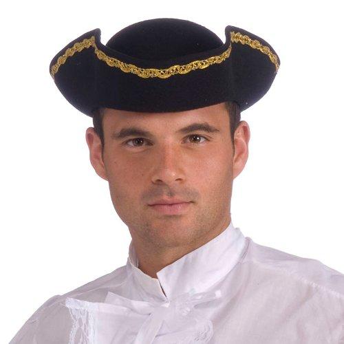 Super Deluxe Tri-Corner Adult Hat, One-Size, Black