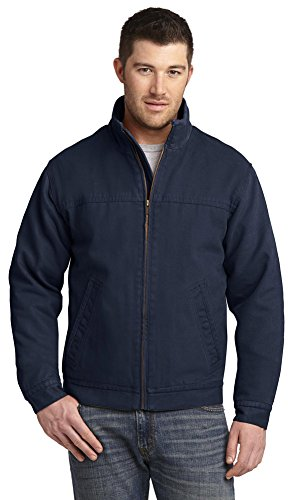 Washed Duck Work Flannel (CornerStone Mens Washed Duck Cloth Flannel-Lined Work Jacket, XS, Navy)