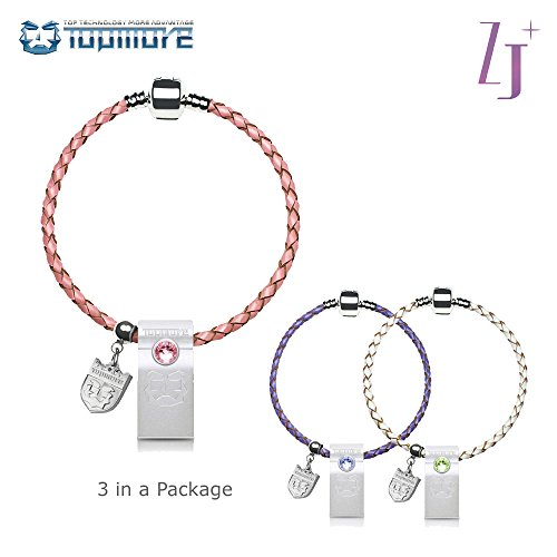 TOPMORE ZJ Series USB3.0 Flash Drive decorated with leather braided bracelet Flash Disk Fashion High speed Memory Stick (16GB, 3 PACK)