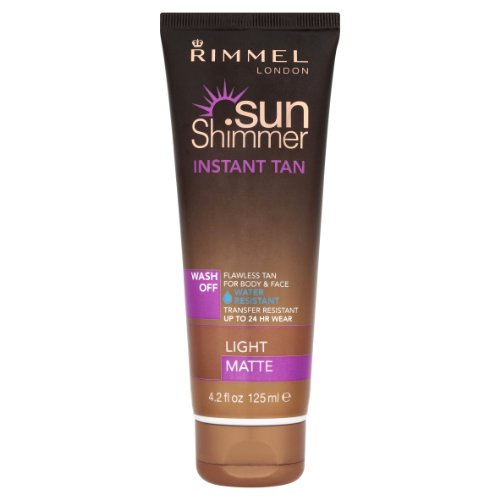 (Rimmel Sun Shimmer Instant Tan Wash Off Light Matte (125ml))