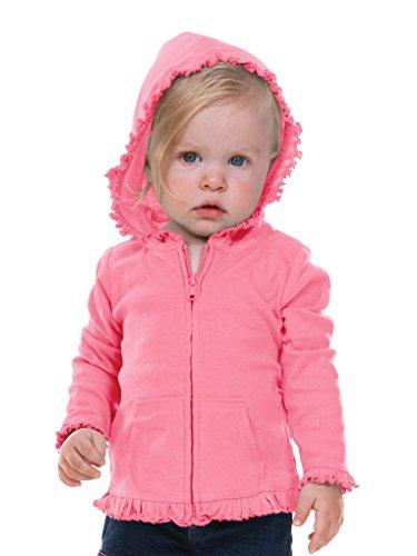 Kavio! Infants Sunflower Long Sleeve Zip Hoodie Pink Flash 18M