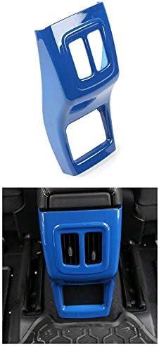 ジープコンパス2017-ブルー用ABSカーリアアームレストボックス化粧枠カバートリム