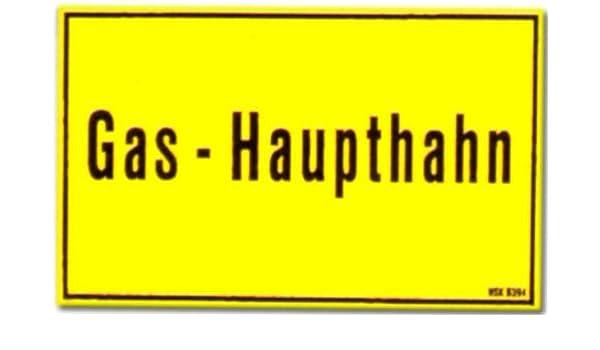 Cartel de: Gas principal Hahn - cartel de advertencia de la ...