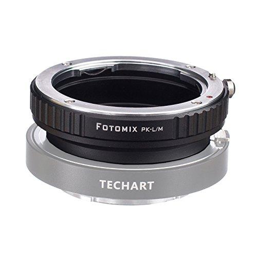 FOTOMIX PK-L/M Mount Adapter for Pentax PK K Mount Lens to Leica M L/M M9 M8 M7 M6 M5 Camera Works with TECHART Auto Focus LM-EA 7