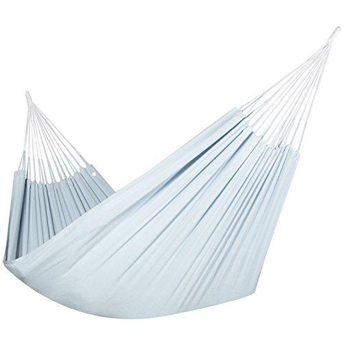 Hammock Natural Brazilian (Colombian Hammock - Single 55 inches wide - Natural Cotton Cloth (Powder Blue))