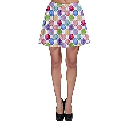 Colorful Watercolour Polka Dot Pattern Skater Skirt