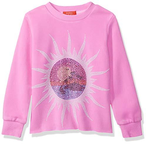 (Butter Girls' Big Burnout Fleece Pullover Sweatshirt, Paradise Pink,)