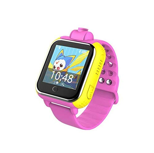 (XuBa 3G Smart Watch Camera GPS LBS WiFi Kids Wristwatch SOS Monitor Tracker Alarm for iOS Android smartwatch pk q90 Q50 Pink)