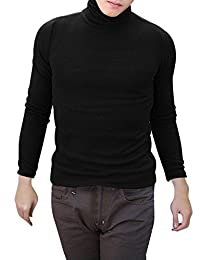 uxcell Men Long Sleeves Turtle Neck Slim Fit Shirt