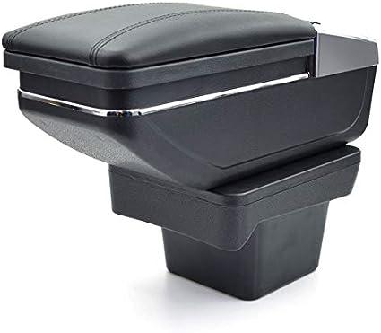 Para Volkswagen Touran 2016-2018 Apoyabrazos Caja de almacenamiento Coches Reposabrazos Central Negro: Amazon.es: Coche y moto