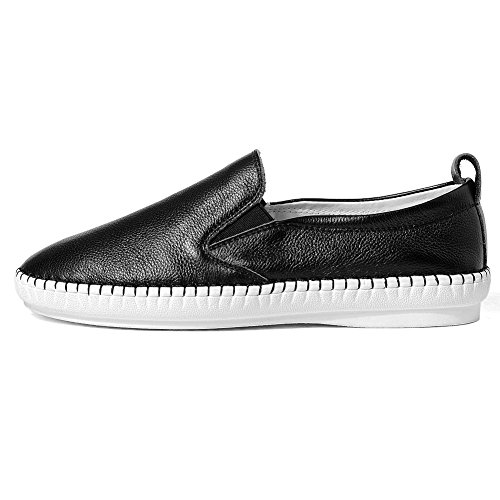 YORWOR Women Ladies Loafer Flats Slip-on Moccasins Low top Sneakers Driving Slippers Black hdgtnB9hWL