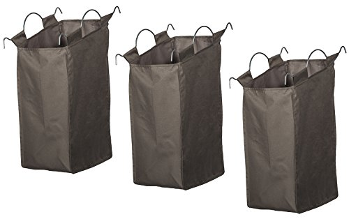 Canvas Replacement Liner (STORAGE MANIAC Laundry Hamper Liner, Replacement Laundry Cart Bag with Loops and Handles, 3-Pack)