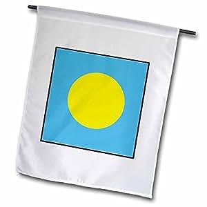 Florene World Flag Buttons - Photo Of Palu Flag Button - 18 x 27 inch Garden Flag (fl_98467_2)
