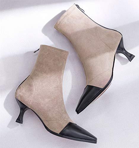 Donna Donna Donna Stivali Nero HHXWU Stivali Stivali Stivali Scarpe Scarpe Stivaletti da 36 Scarpe Albicocca da tnHnFfxq8