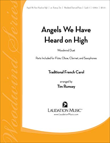Angels We Have Heard on High (Flute/Oboe/Clarinet/Saxophone Duet and Piano)