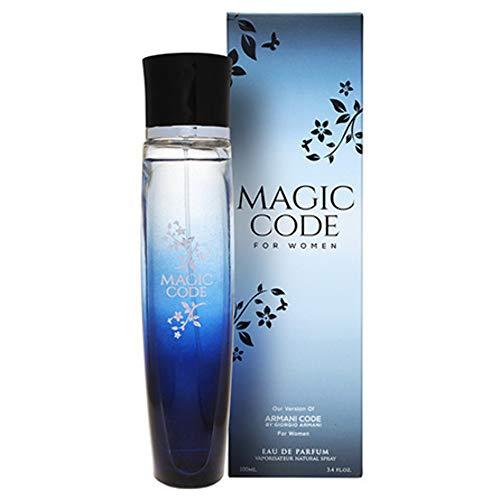 dc9dcb7d9 Magic Code for Women Perfume by Mirage Brands, 3.4 oz-100 ml, Mysterious,  Sophisticated, Distinguished and Seductive Power Eau De Parfum with a  NovoGlow ...