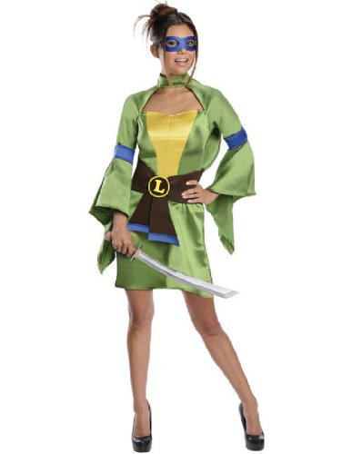 Secret Wishes Teenage Mutant Ninja Turtles, Leonardo Costume, Green, Large (Ninja Turtles Costume For Women)