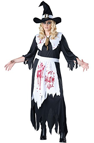 [Mememall Fashion Classic Horror Salem Witch Women Plus Size Costume] (Madonna Costume Plus Size)