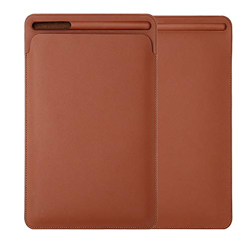 Seamount Pouch Skin Leather Sleeve Case Cover Bag for Apple Pencil 2nd & iPad Pro 2018 iPad Pro 12.9/11inch (12.9inch, Brown)