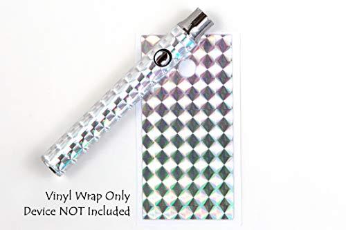 510 Threaded Battery Pen Vape Skin Wrap Decal Vinyl Sticker Chrome Diamonds