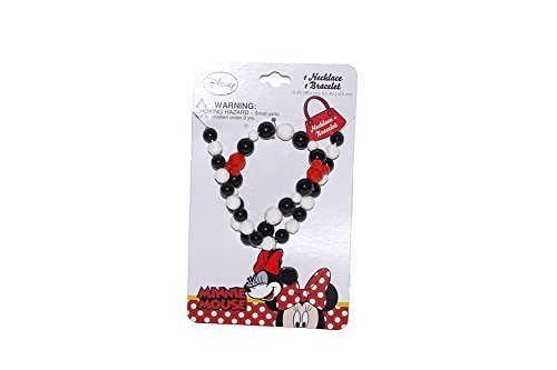 [Disney Mickey and Minnie Mouse Baby Girls Dress Up Accessory - Bracelet and Necklace Set] (Maleficent Toddler Costumes)