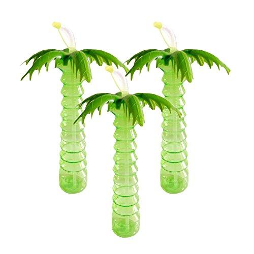 Palm Tree Luau Yard Cups Pack Of 3 -