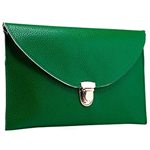 Green Clutch Purse - Amaze Fashion Women Handbag Shoulder Bags Envelope Clutch Crossbody Satchel Tote Purse Leather Lady Bag (Green)