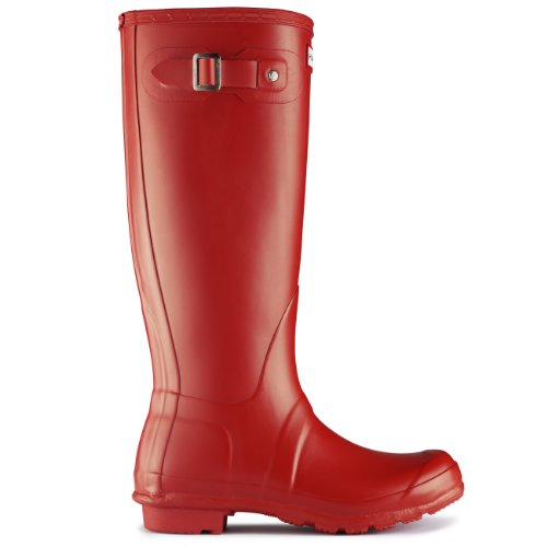 Womens Hunter Original Tall Wellington wasserdichte Winter Schnee Regen Stiefel rot